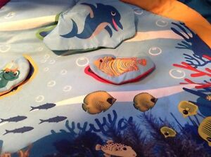 Tummy time mat with lights and sound