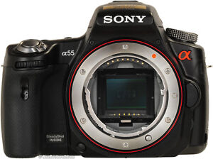 Sony A55 SLT with two lenses