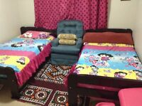 Two Matching twin bed set