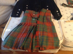Full Scottish Kilt,Jacket and Accessories