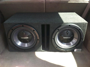 """Two 12"""" Subwoofers in Ported Box"""