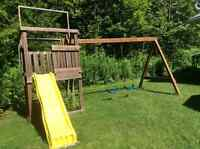 Wooden Swing Set / Play Stucture
