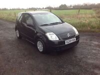 2008 Citroen C2 1.4 hdi 3 door left hand drive black