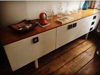 Midcentury vintage retro long teak sideboard