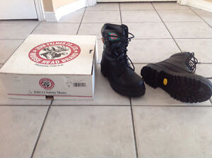 New John Palmer Moose head Brand steel toe men boots