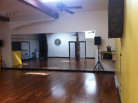 Studio space for rent for dance, fitness, martial arts, yoga
