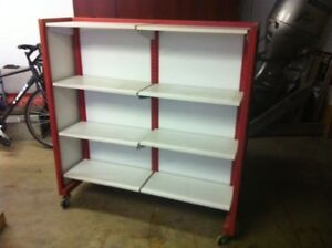 Heavy duty rolling adjustable steel shelf
