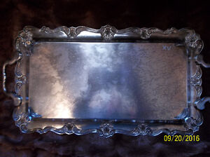 ANTIQUE SILVER TRAY WITH BEAUTIFUL DESIGN Kitchener / Waterloo Kitchener Area image 4