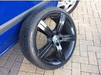 BMW alloy wheels.
