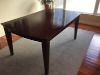 Dining table for sale with extension