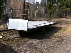 2008 Mirage Snowmobile trailer 14ft drop front drive on off