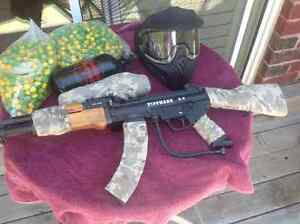 Tippmann A5. AK47 with optional wood and camouflage.