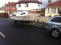 20ft boat trailer sailer hull