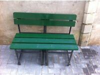 Lovely Wooden bench with steel frame £35