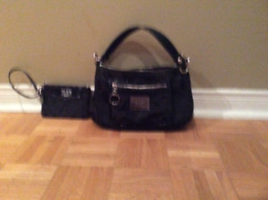 Coach bag with wristlet