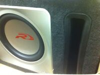 "Alpine 12"" sub and amp combo"