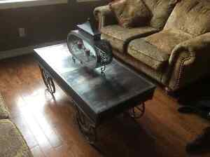 Industrial style coffee table Peterborough Peterborough Area image 1