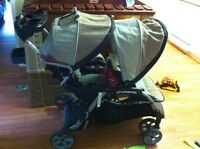 Double sit an stand stroller