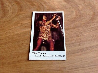 1970's HOLLAND DUTCH MINI GUM CARD SERIES P # 24 TINA TURNER VG SET BREAK