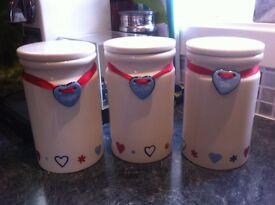 Tea, coffee, sugar pots