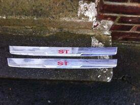 Ford ST Chrome kicker plates