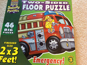 Two sided floor puzzle