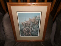 numbered and signed print by Herbert Pikl of Mountain Goats
