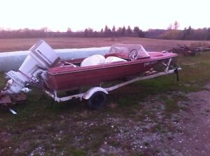 1967 Princecraft 14.5', 75hp Chrysler, trailer package