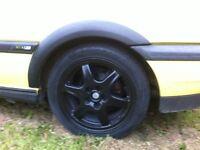 5x100 all four genuine bbs alloys with good tyres