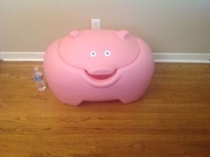 STEP 2 PINK PIG LARGE CHILDS TOY BOX CHEST STORAGE