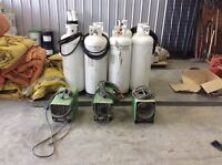Propane tanks and heaters
