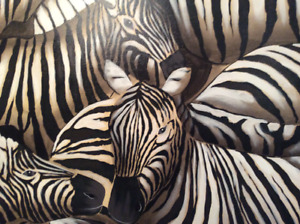 Spectacular Large Zebra Print on Canvas