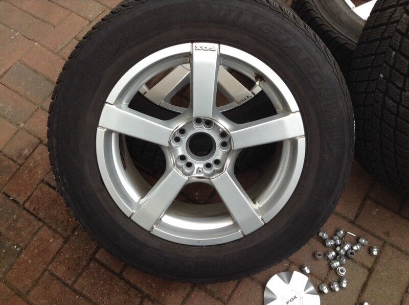 4 winter 17 inch tyres and alloy wheels.