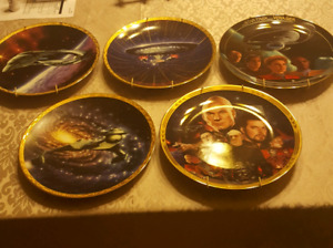 5 star trek collectable plates