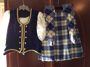 Scottish Highland Kilt, Vest and Socks