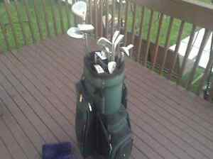 Golf bag and club