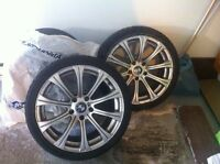 """BMW 18"""" MAGS + 2 tires - 750$"""