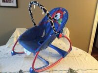 Vibrating baby recliner chair
