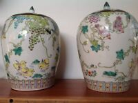 Asian Ginger Style Jars - Urns
