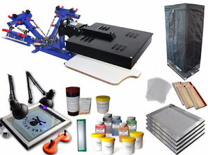 3 Color 1 station Screen Printing Kit 2in1 machine
