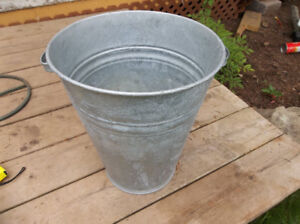 Galvanized Metal Bucket with two handles