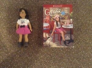 American Girl doll mini Grace and book - retired