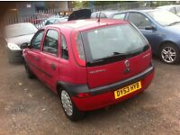 Vauxhall corsa 1.2 on 53 reg long mot