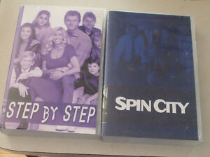 dvds TV SERIES, burnt copies of SPIN CITY & STEP BY STEP,
