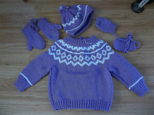 Purple handmade set - NEW