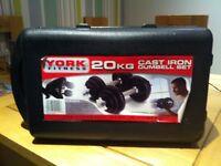 York 20Kg Cast Iron Dumbell Set