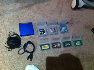 Nintendo Gameboy advanced SP with 7 games