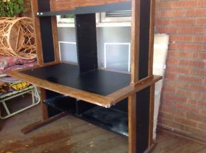 Desk with book shelves