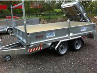 Dale Kane 10 x 5 , 6 flatbed drop side 3 ton builders trailer