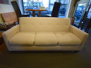 LOVELY MODERN CREAM BUTTON BACK SOFA AT CHARMAINE'S
